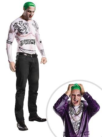 Suicide Squad Joker Halloween Costume.Amazon Com Joker Costume Kit Adult Xl With Joker Teeth Clothing