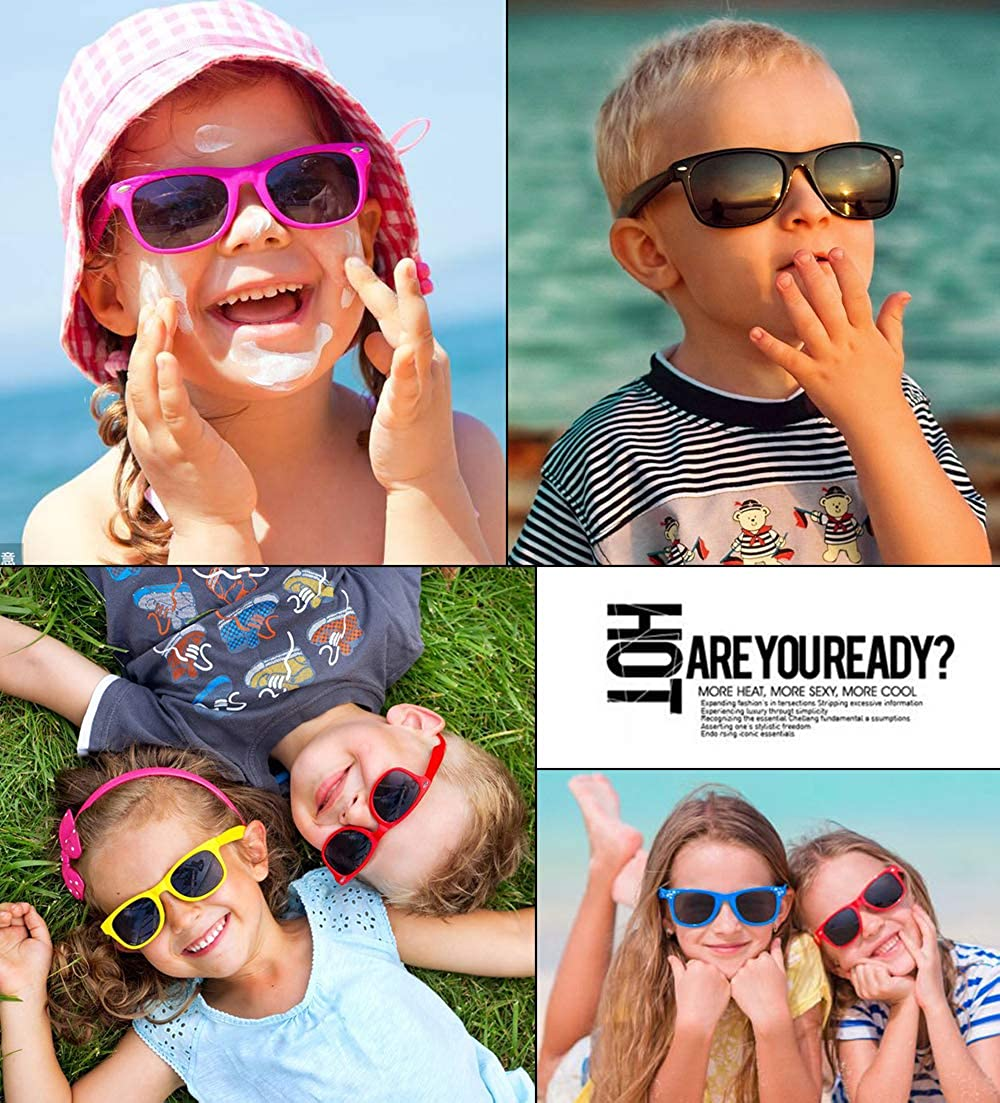 Outray Kids Children Boys and Girls Polarized Fashion Comfortable Sunglasses Age 3-10