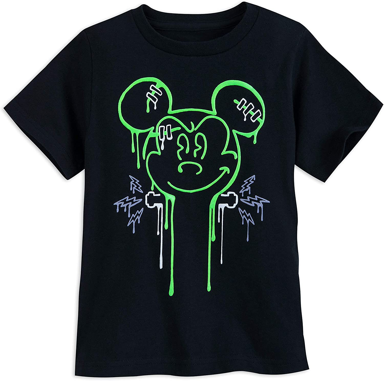 Disney Store Mickey Mouse Boys Mummy Glow in Dark Halloween Shirt 2//3 4