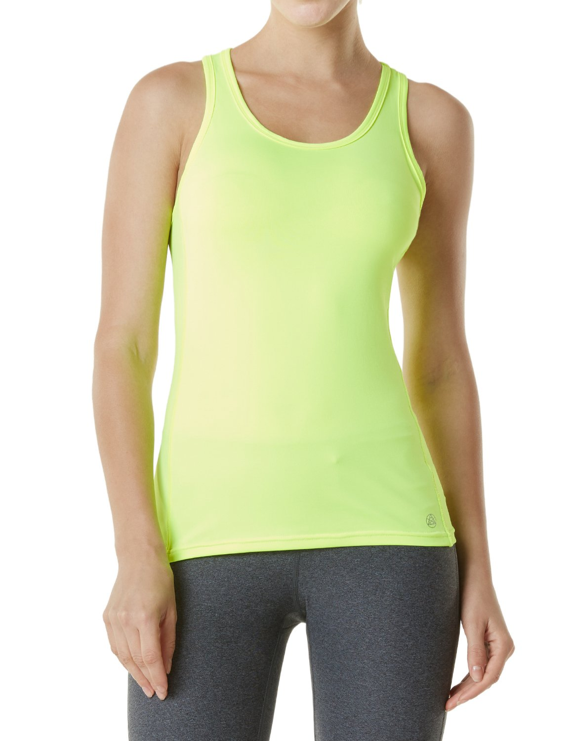 fec3ebf9ef7a1 TSLA Racerback Tank Compression Cool Crop Fitness Yoga Slim Fit Top FYN01    FUV06  FUN74