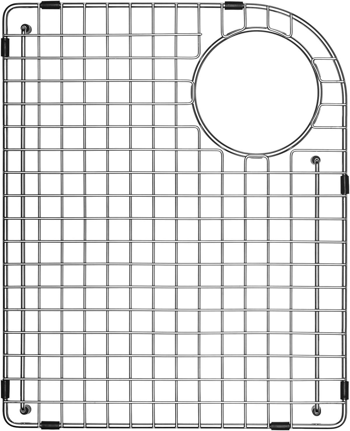 Serene Valley Sink Bottom Grid 14 1 4 X 17 5 8 Rear Corner Drain With Radius 3 3 4 Sink Grid Stainless Steel Ndg1417lr Amazon Com