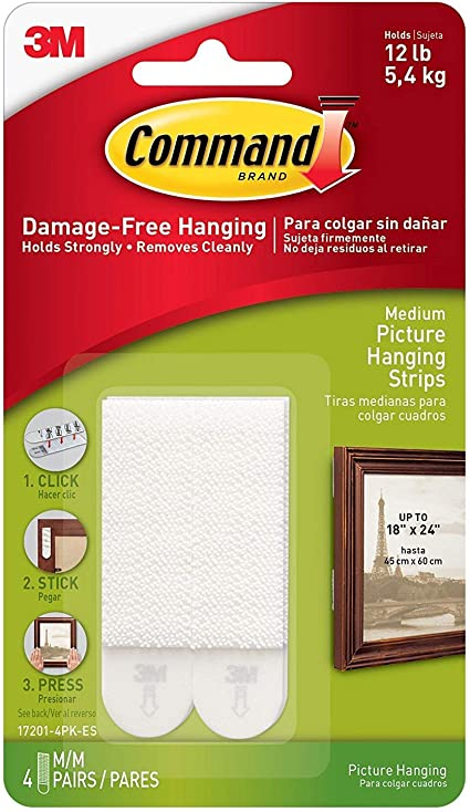 Foam  Large  Picture Hanging Strips  6 pk 3M Command  12 lb