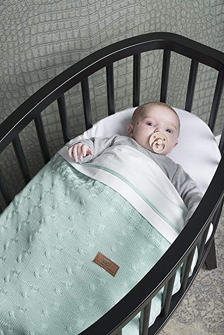 70x95 cm BO Babys Only Grau Babydecke teddyfutter Breeze