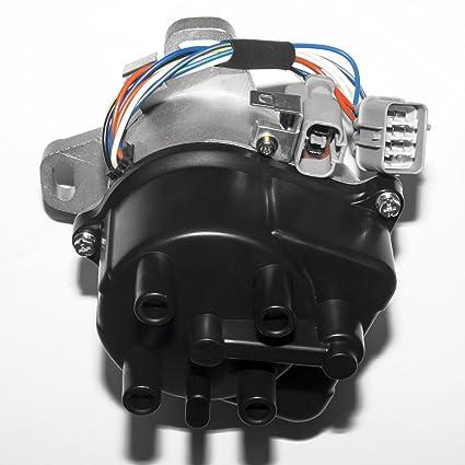 Amazon com: MAS Compatible Ignition Distributor w/Cap & Rotor TD-44U
