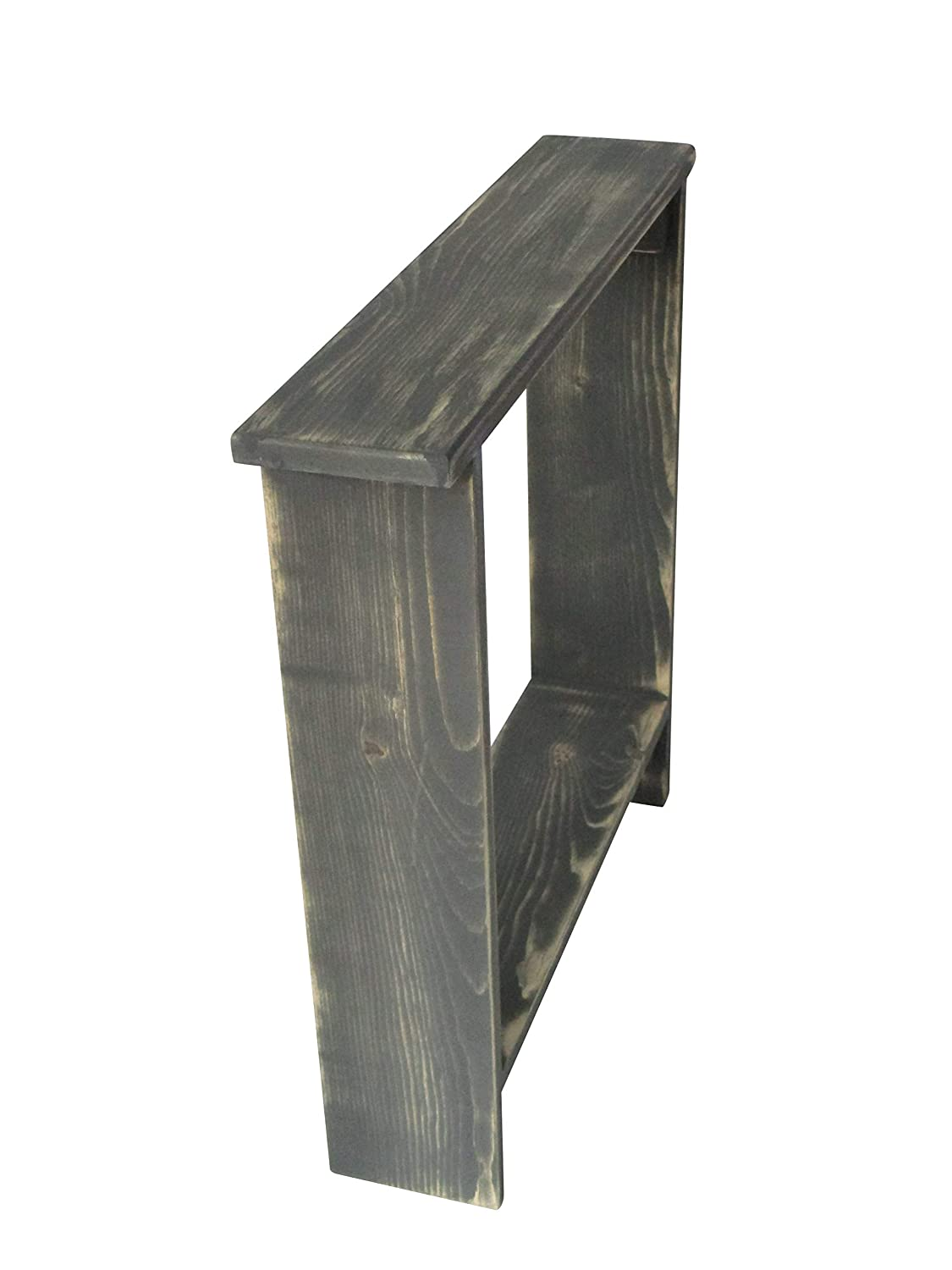 Small accent table skinny side table entryway table entry table rustic wood