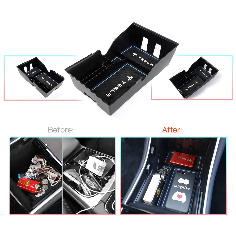 Consola Central Apoyabrazos Caja del coche Interior Center Armrest Storage Box Con Tapete Antideslizante Accesorios Interiores del coche CDEFG para Tivoli Caja de almacenamiento