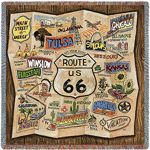 Pure Country Route 66 Small Blanket Tapestry Throw (Route 66 Tapestry)