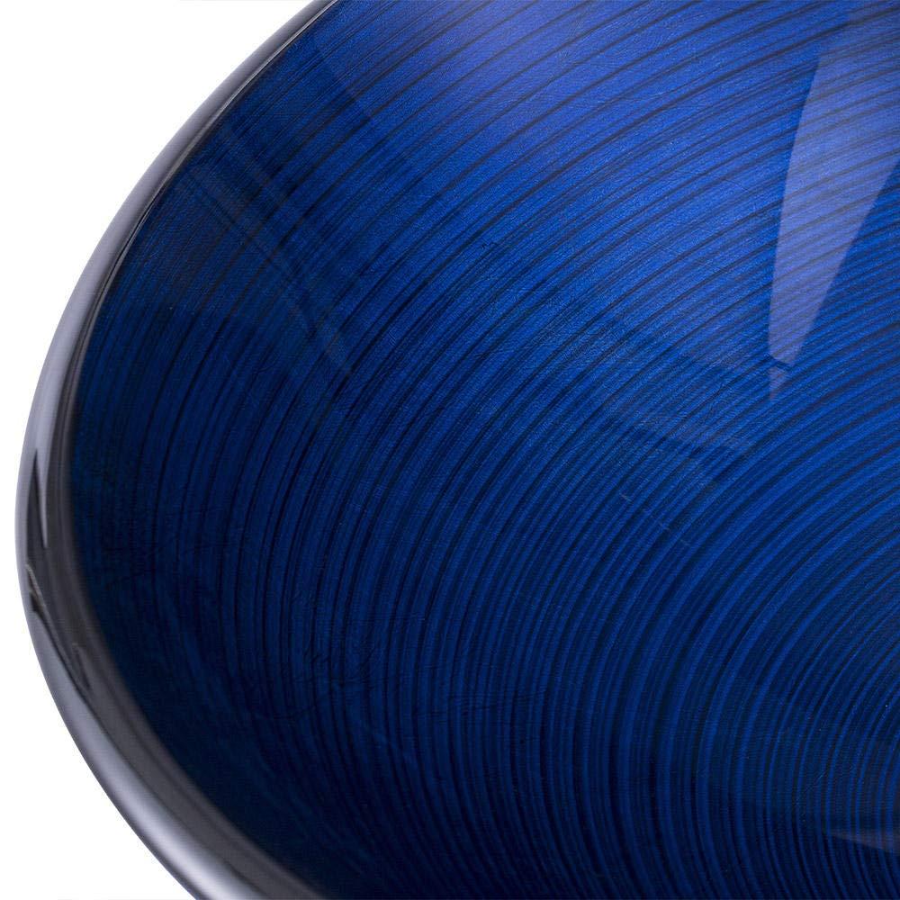 Bagno Lavandino durevole Lavabo in vetro temperato con struttura a spirale Lavabo moderno minimalista Set di lavandini per la casa@Blu scuro/_Tipo A