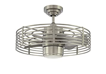 7 Blade Ceiling Fan: Kendal Lighting AC17723-SN Enclave 7-Blade 1 Light Ceiling Fan, Satin Nickel,Lighting