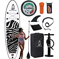 """Inflatable Paddle Boards, 10'6""""x33""""x6"""" Stand up Paddleboard, Durable SUP Accessories, Manual Pump, 3-Piece Aluminum…"""