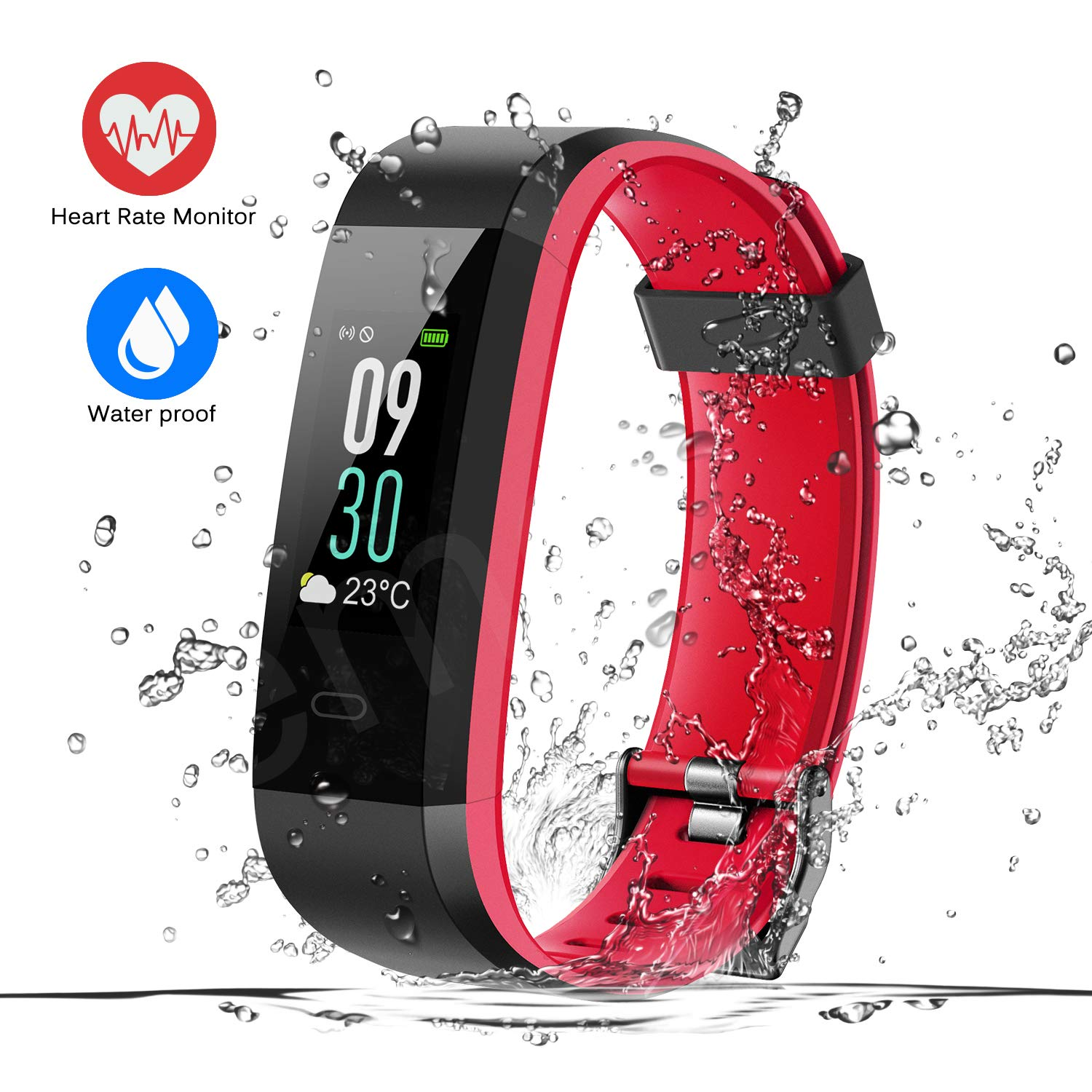 ESOLOM Kids Fitness Tracker, Activity Tracker with Heart Rate, Sleep Monitor, Step Counter, Pedometer Watch for Kids Women Man, IP68 Waterproof Smart Band Replacement for Fitbit Kids Gift by ESOLOM