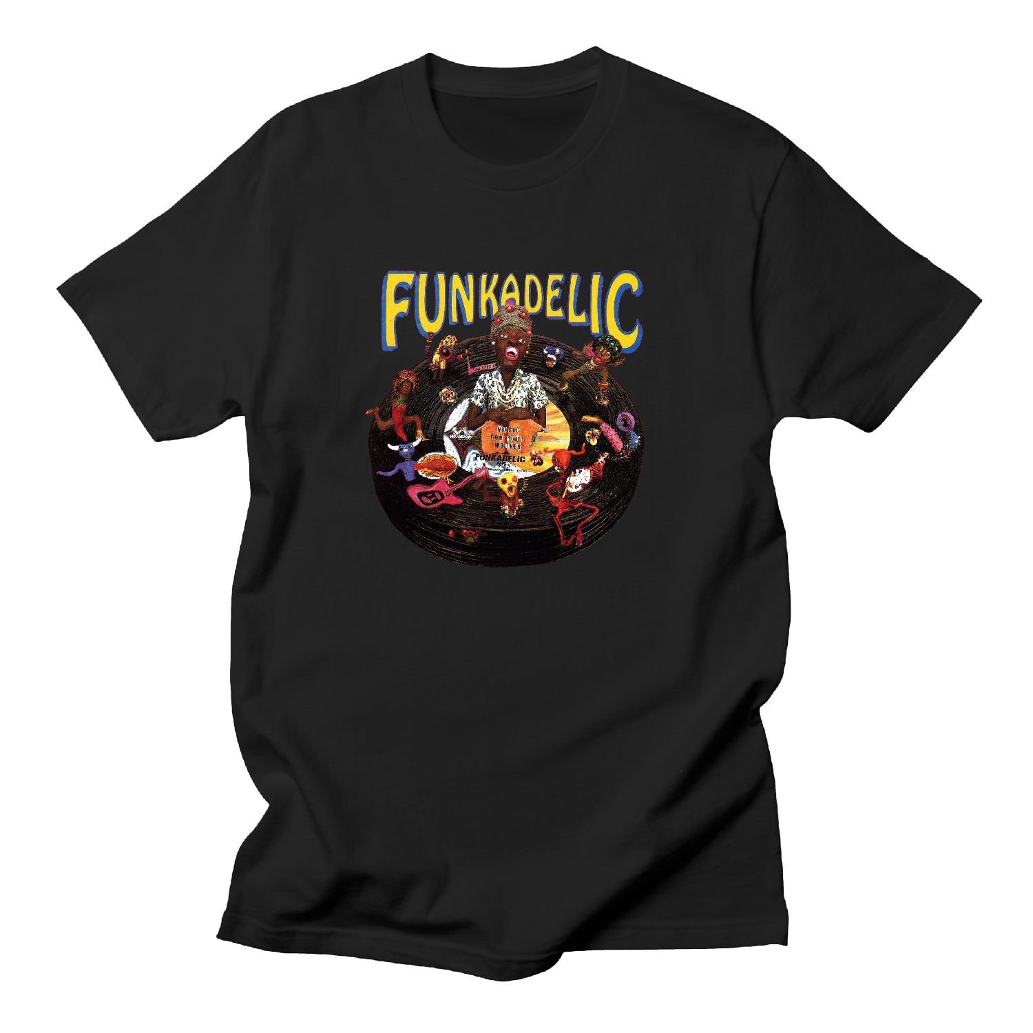 BOguan Mens T-Shirts Funk Seven adelic Music for Your Mother Short Sleeve Tees X-Large