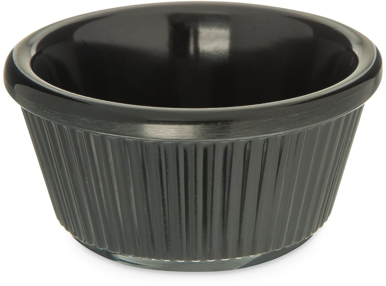 Carlisle S28203 Melamine Fluted Ramekin 3 Oz Capacity Black Case Of 48 Industrial Scientific