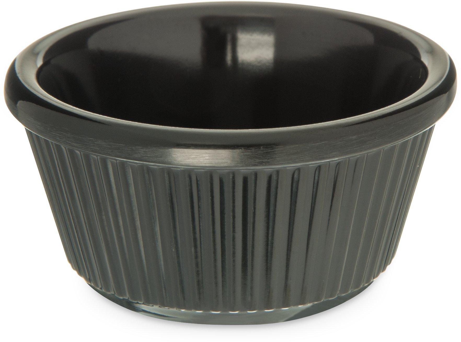 Carlisle S28203 Melamine Fluted Ramekin, 3 oz. Capacity, Black (Case of 48)