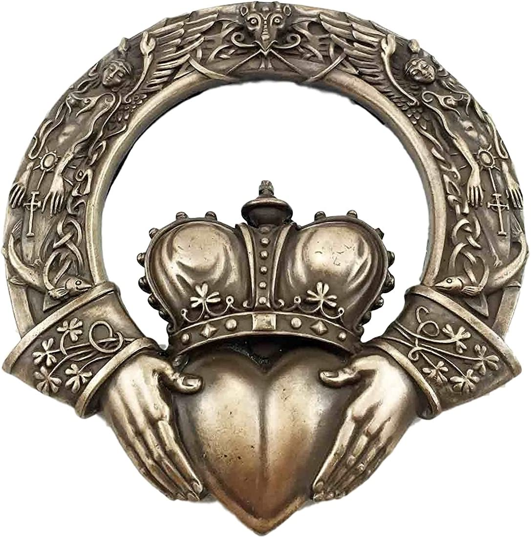 Ebros Royal Celtic Claddagh Ring Wall Plaque Figurine AS Symbol of Love Friendship Loyalty Home Hanging Art Decor Sculpture