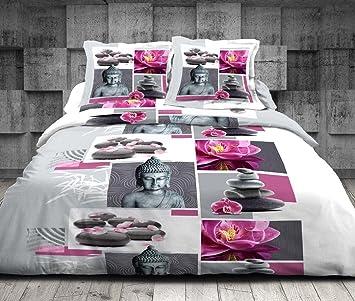 HOME DECO Parure de draps 4 pièce pour lit