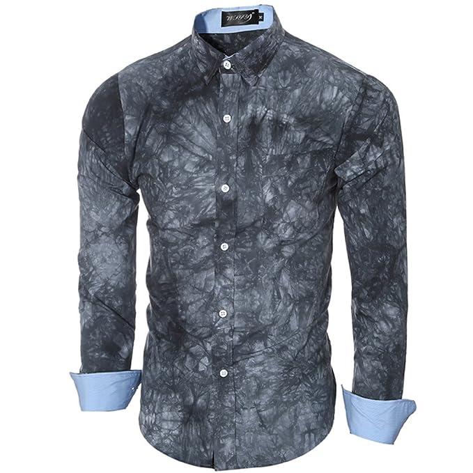 Otoño e Invierno camisetas de mangas largas, 3D impreso CAMISAS DE HOMBRES: Amazon.es: Ropa y accesorios