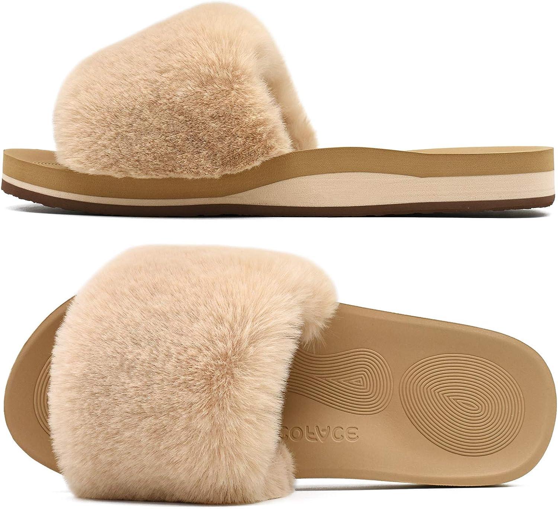 Peluche Toison Doublure Tricot/ée Chaude Semelle Antid/érapante Chaussures de Maison Confortables Mousse /à M/émoire Int/érieur Ext/érieur COFACE Chaussons Femme Botte Hiver Pantoufle