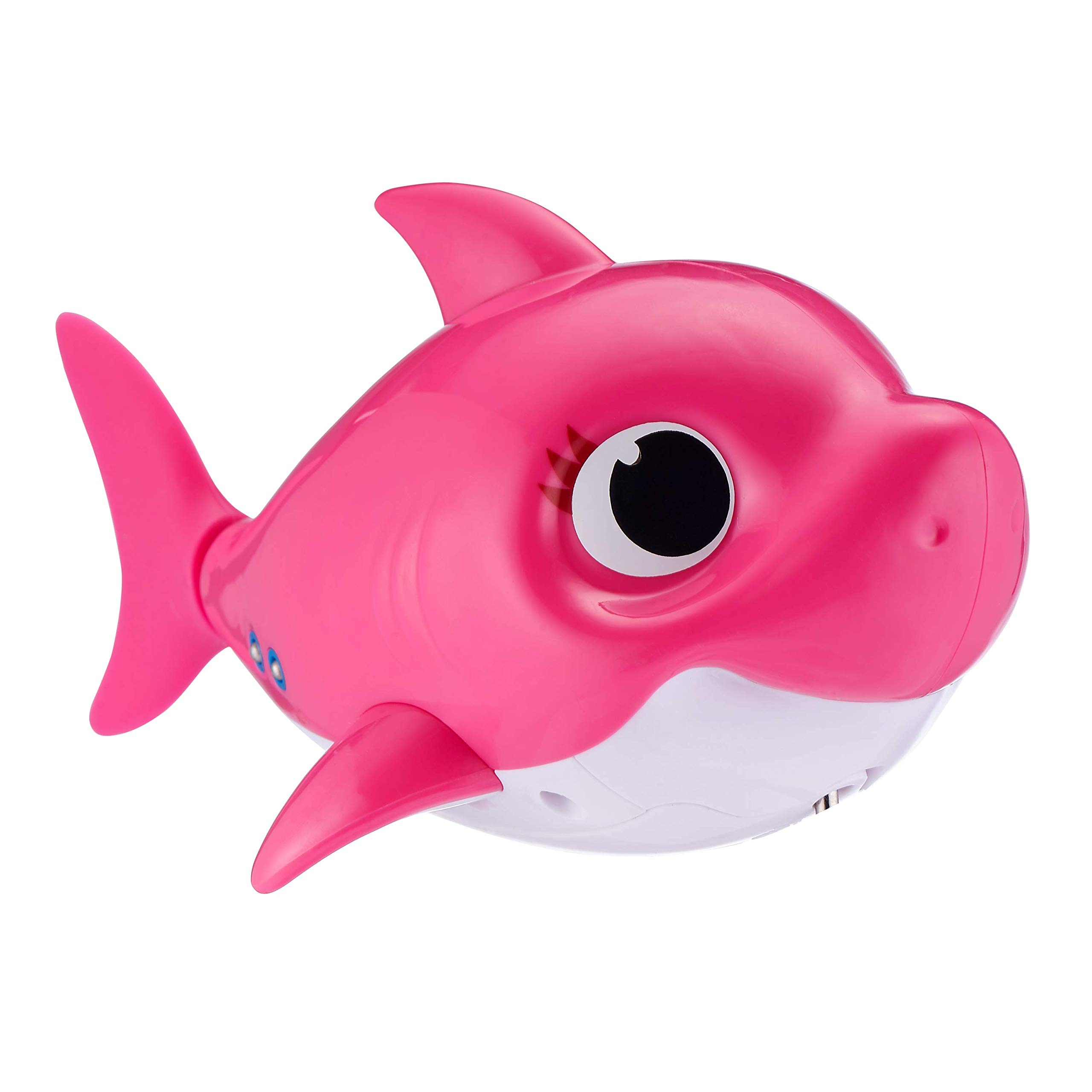 Robo Alive Junior Baby Shark Battery-Powered Sing and Swim Bath Toy by ZURU - Mommy Shark (Pink) by Robo Alive Junior (Image #3)