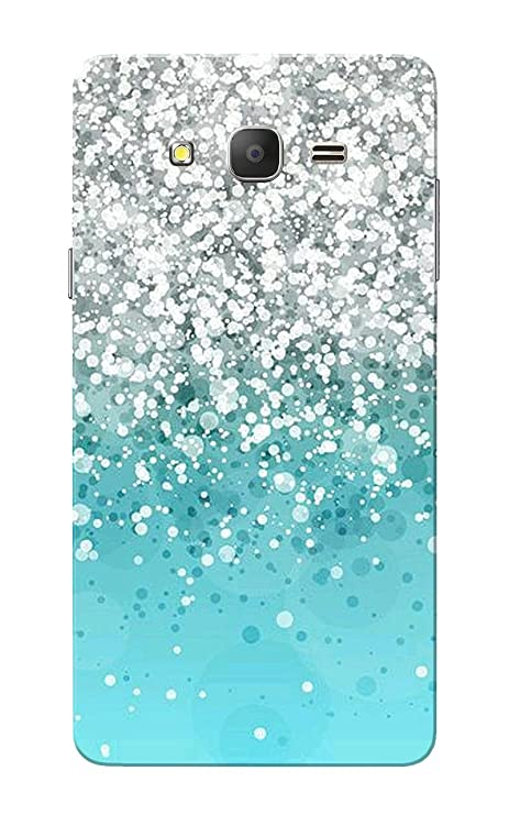 separation shoes 53c03 a98f7 Caseria Silver Sparkles Aqua Blue Slim Fit Hard Case Cover/Back Cover for  Samsung Galaxy On 7/On7 Pro