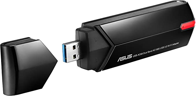 Asus Usb Ac68 Dual Band Ac1900 Usb 3 0 Wi Fi Adapter Computers Accessories