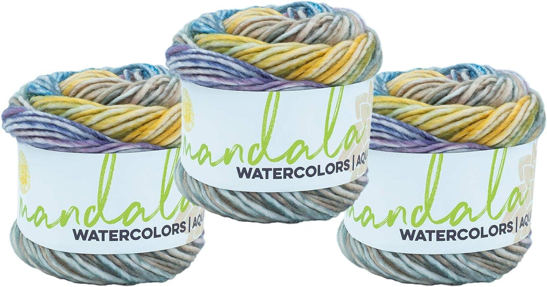 (3 Pack) Lion Brand Yarn 554-608 Mandala Watercolors Yarn, Wild Pansy