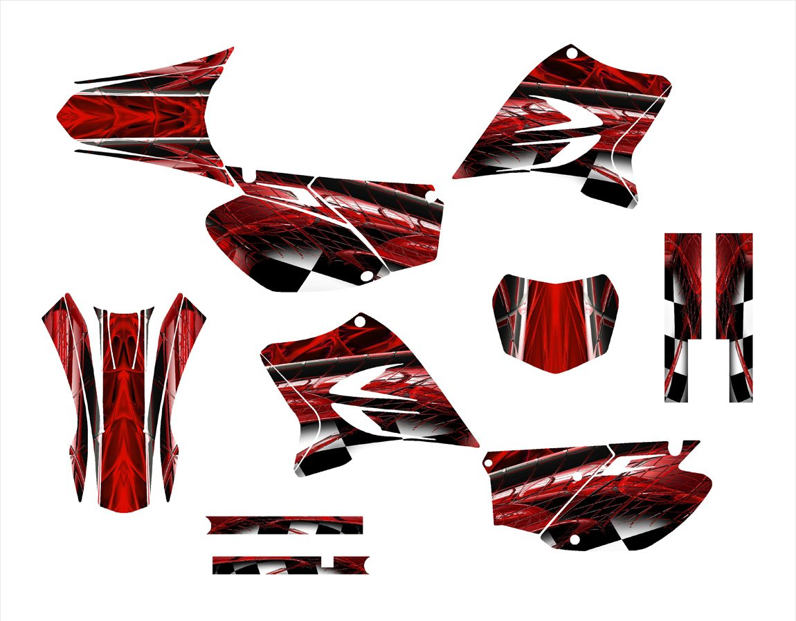 Yamaha ttr230 2005 – 2015ダートバイクグラフィックスデカールキットby Allmotorgraphics no2001-red   B012A5189E