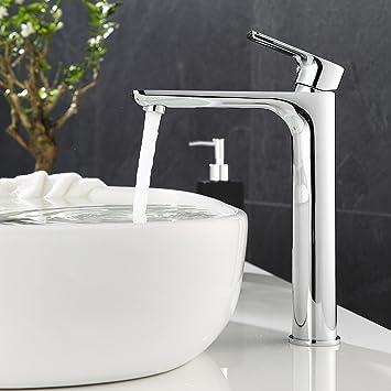ubeegol Wasserhahn Hoch Bad Waschtischarmatur Hoher Auslauf ...