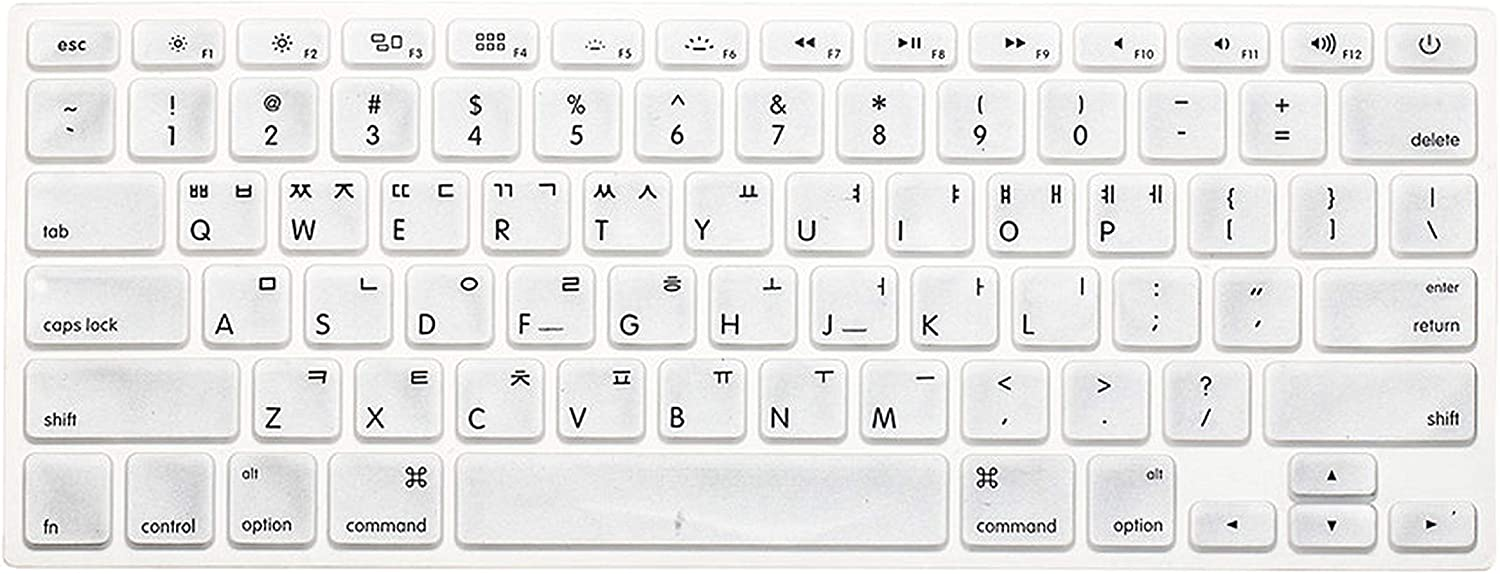 New Korean Keyboard US Version Silicone Protector Stickers Skin for MacBook Air 13 Mac Pro 13 15 17 Retina Keyboard Cover-Gold
