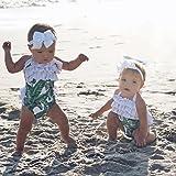 Baby Girl Leaf Swimsuit Ruffles Swimwear Halter