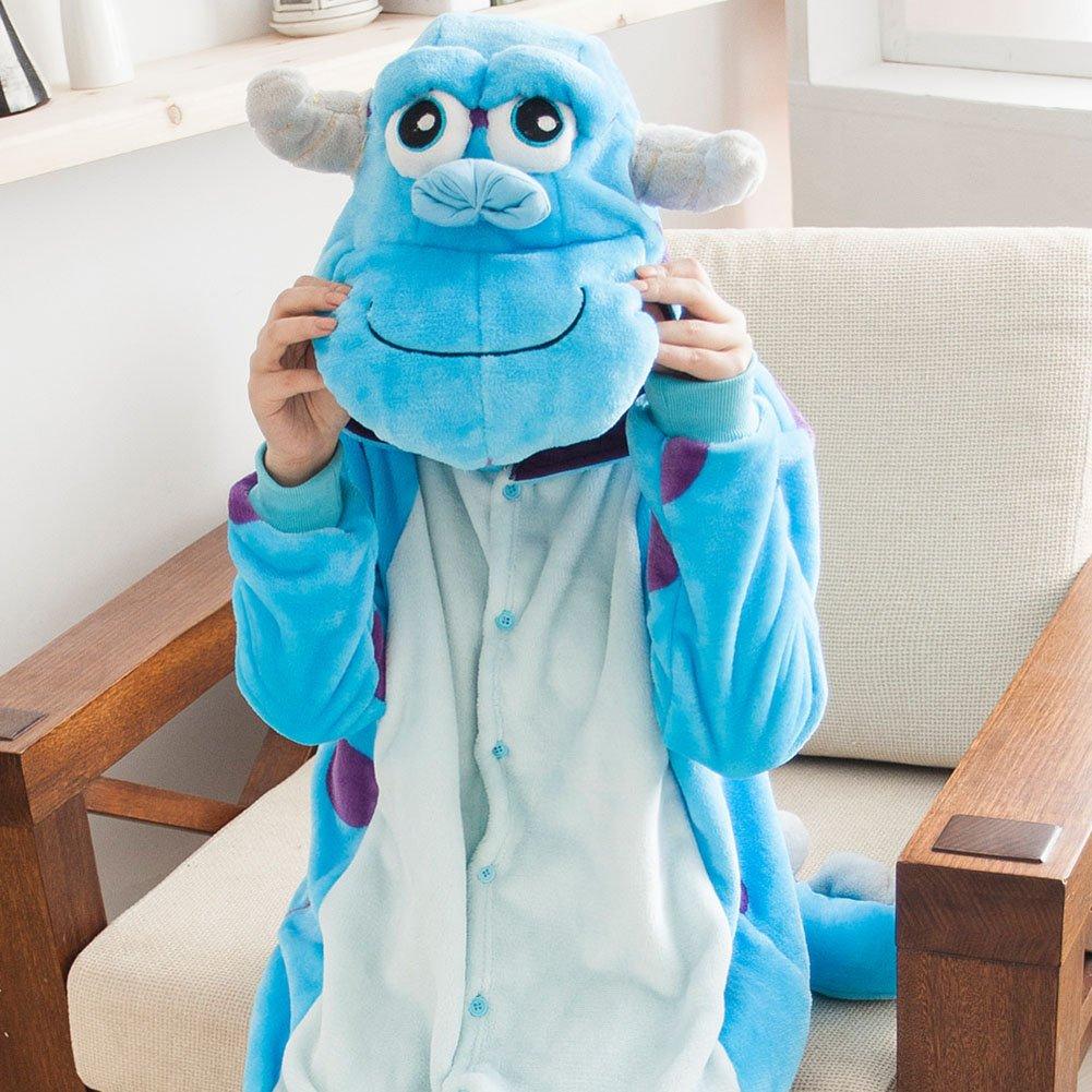 Molly Unisexo Adulto Kigurumi Pijama Traje Cosplay Homewear S Azul Blanco: Amazon.es: Deportes y aire libre