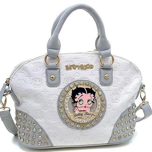 Betty Boop Bolso de Mano Bolsos y Carteras con diseño de Monograma Grabado y Diamantes de