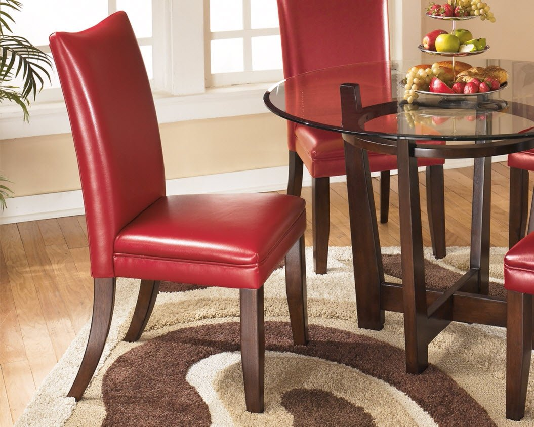 Amazon.com   Ashley Furniture Signature Design   Charrell Dining Side Chair    Set Of 2   Red   Chairs