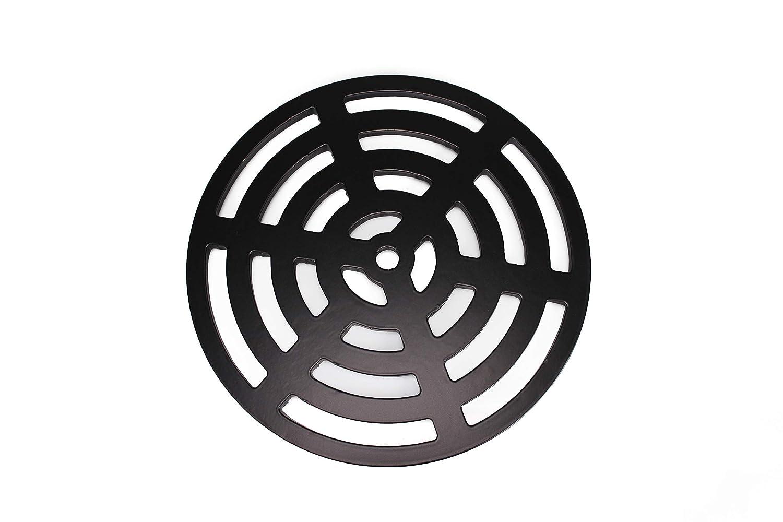 Plus r/ésistant 170/mm 17/cm rond circulaire en acier solide en m/étal Gully Grille Heavy Duty Drain Coque Grille comme en fonte