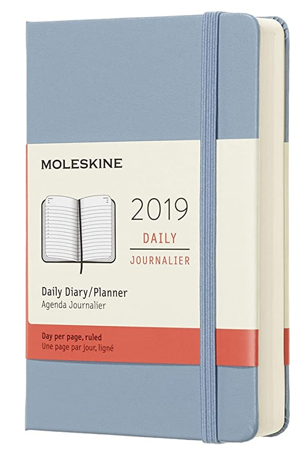 Moleskine Classic 12 Month 2019 Daily Planner, Hard Cover, Pocket (3.5