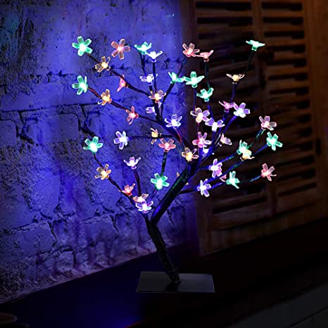 Careslong Arbre Lumineux Artificiel 48 Led Lampe Arbre Fleur De