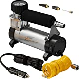 Portable Air Compressor, Hausbell Air Compressor Kit Mini DC12V Multi-Use Oil-Free Air Tools Tire Inflator