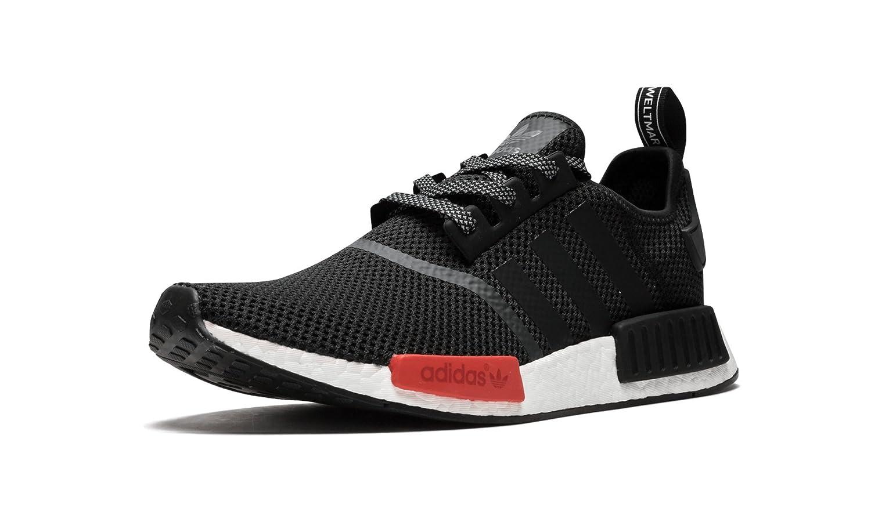 WomenMen Best Adidas NMD R1 Footlocker Exclusive Black Red White