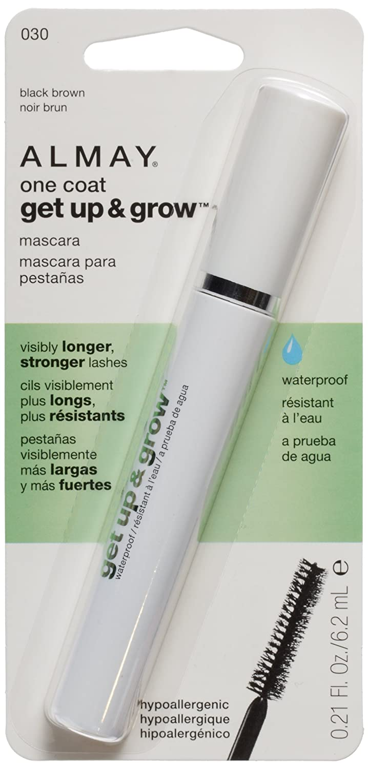 Almay One Coat Get Up and Grow Waterproof Mascara, Black Brown, 0.21 Fluid Ounce by Almay: Amazon.es: Salud y cuidado personal