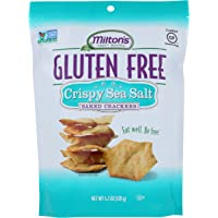 Milton's Craft Bakers Gluten-Free Baked Crackers, Crispy Sea Salt, 4.5 Ounce