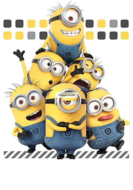 efa227ff3 10 Inch Minions Despicable Me 3 Wall Decal Sticker Minion Removable Peel  Self Stick Adhesive Vinyl