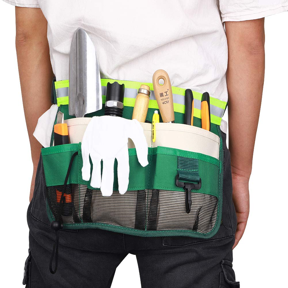 Delantal para herramientas de jardiner/ía bolsa para destornilladores herramientas de trabajo de madera y accesorios bolsa para herramientas con 7 bolsillos bolsa para cintur/ón de herramientas