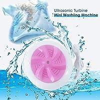 GEMITTO Machine à Laver à Turbine à ultrasons, laveuse, Mini-Machine de Nettoyage de buanderie portative USB, laveuse de Linge Haute fréquence 2 en 1 pour la lessive de Voyage et Enfants