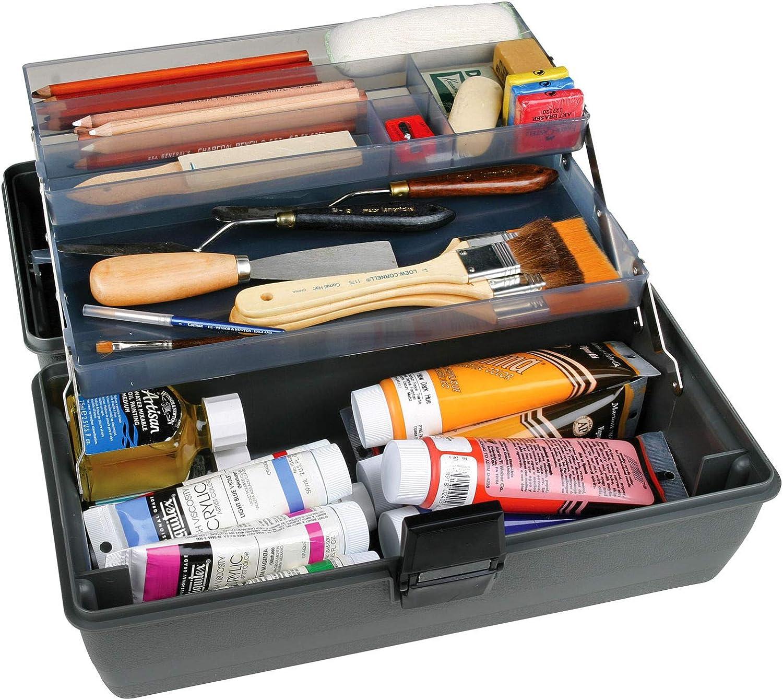 ArtBin Lift Tray Box W//3 Trays /& Quick Access Lid Storage Black /& Gray