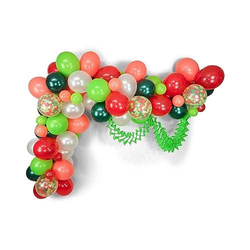Amazon Com Balloon Garland Kit Dr Seuss Christmas Red Green