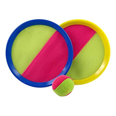 Catch and Toss Game, Catch Ball Sports Game Set /paddle catch and toss for Kids with Grip Mitt and Ball Paddle Catch and toss/ Bean Bag Ball: Toys & Games