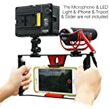 Smartphone Video Rig,Ulanzi iPhone Filmmaking Recording Vlogging Rig Case,Phone Movies Mount Stabilizer for Mobile Phone Videomaker Film-maker Videographer for iPhone 7 Plus Sumsang (U-Rig)