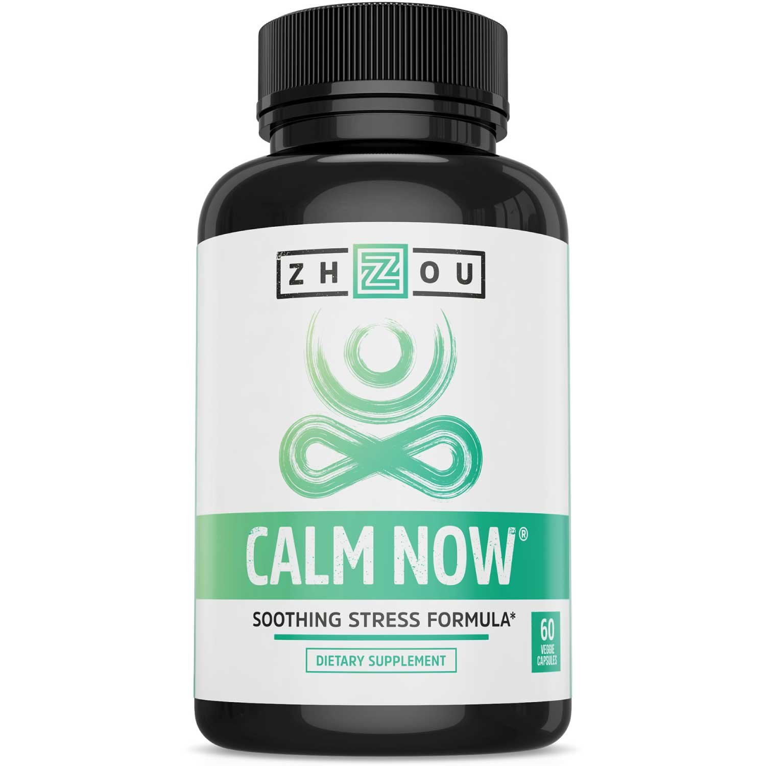 CALM NOW Soothing Stress Support Supplement, Herbal Blend Crafted To Keep Busy Minds Relaxed, Focused & Positive; Supports Serotonin Increase; Ashwagandha, Rhodiola Rosea, B Vitamins, Bacopa & More