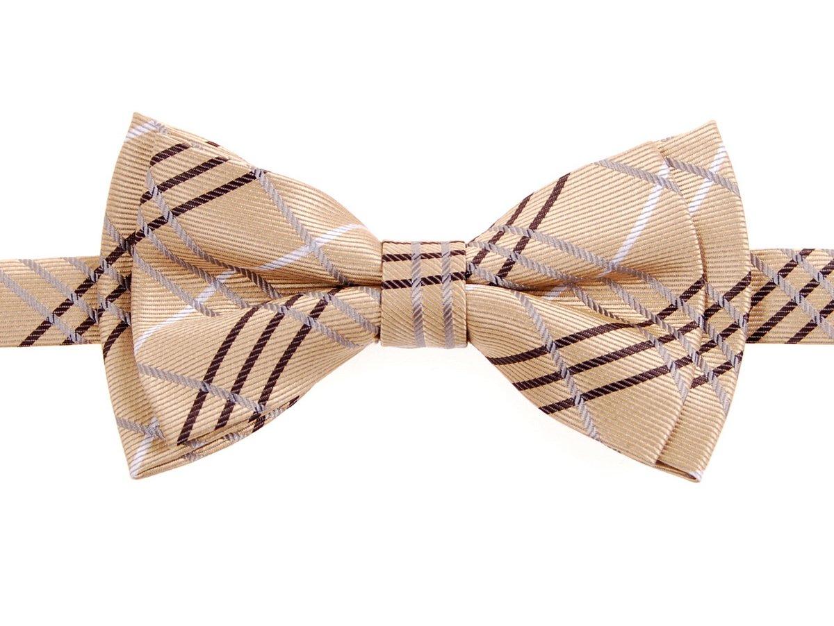 Retreez Tartan Plaid Styles Woven Microfiber Pre-tied Boy's Bow Tie