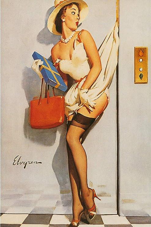 Art print POSTER CANVAS GIL ELVGREN Vintage
